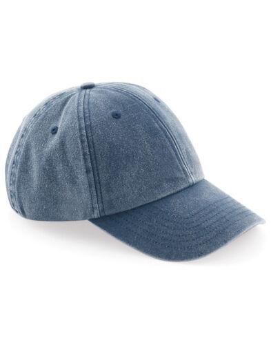 Beechfield Baseball Cap Low Profile Vintage Summer Hat Unisex