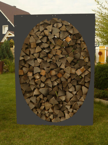 Kaminholzregal OVAL Metall Holzregal Holzlege Holzstapelhilfe Stapelhilfe Holz