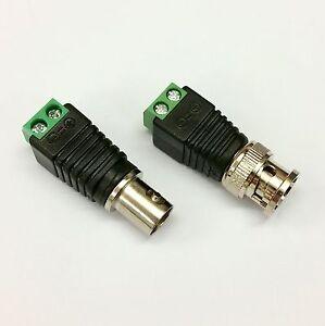Bien Paire Bnc Mâle / Femelle Connecteur Adaptateur Cctv-ajustement Facile Borniers à Vis-afficher Le Titre D'origine Ventes Pas ChèRes 50%