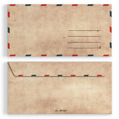 Vintage f/ür Einladungskarten alt Kuvert Briefumschlag selbstklebend ohne Fenster Briefumschl/äge 30 St/ück DIN-Lang