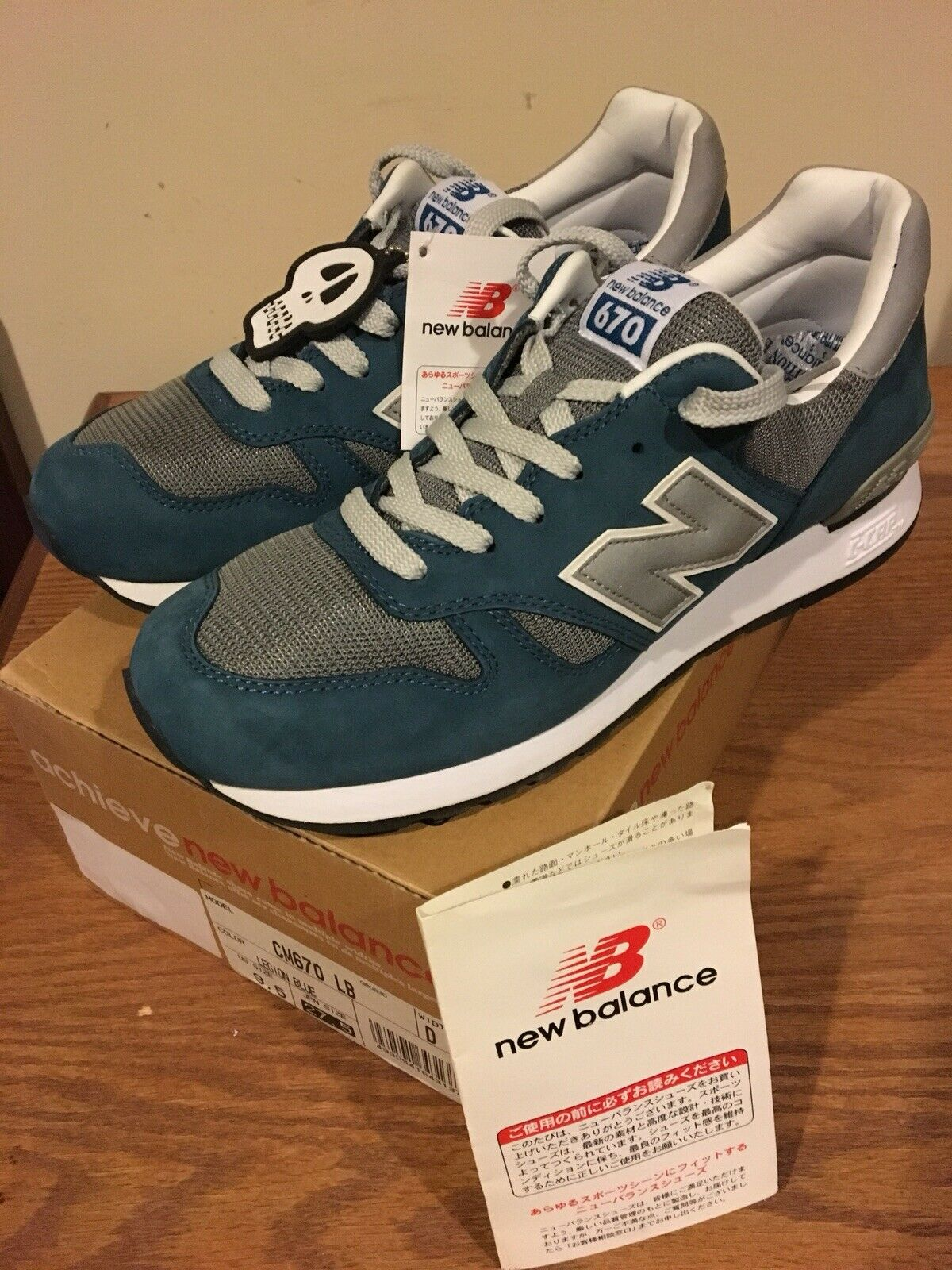 New Balance Stussy Mad Hectic CM 670 LB Legion bluee Size 9.5 New