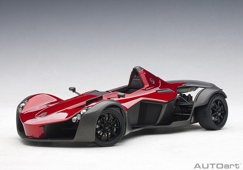 18119 BAC Mono  Metallic rosso  2011  Composite Model/trunk COVER 1:18 Autoart