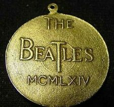 THE BEATLES BRASS 1964 COIN PENDANT VINTAGE jewelry 60s Record LP John Lennon