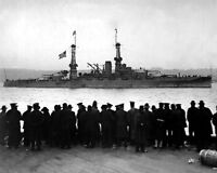 8x10 World War I Photo: Uss Arizona During Great Naval Review, 1918
