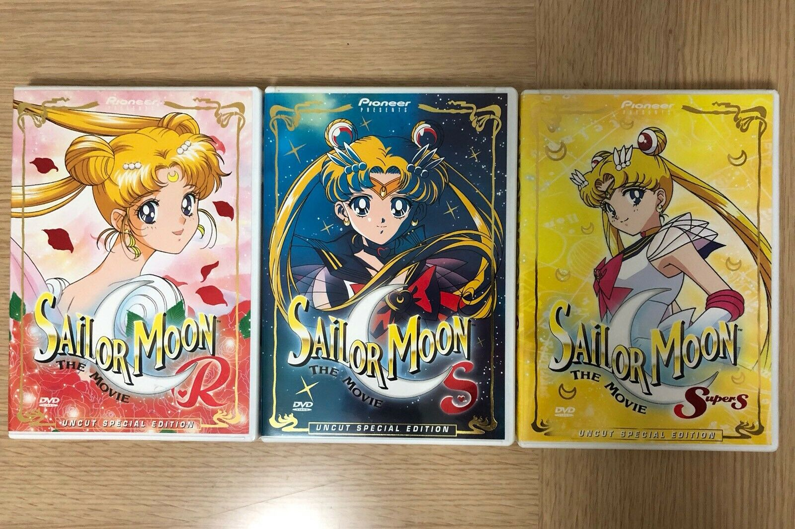 Sailor moon r s supers the movies collection uncut special edition pioneer usa