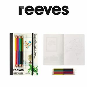 reeves colour by numbers a5 sets or postcard colouring in sets ebay