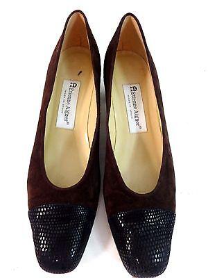 Etienne Aigner Damen Braun & Schwarz Leder Absätze Pumps Schuhe Größe 8.5 N | eBay
