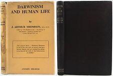 CHARLES DARWIN-1946-DARWINISM & HUMAN LIFE*EVOLUTION*SOUTH AFRICA*w/DUSTJACKET