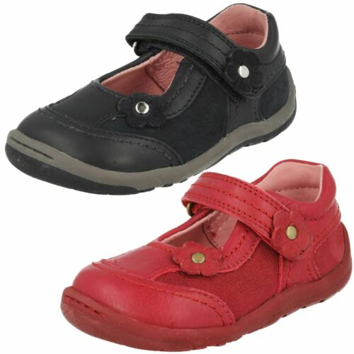Girls Startrite Dark Red Leather Shoes F//G Fitting Petals