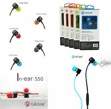 Celebrat S50 In Ear Super Stereo Bass Earphone For Smartphone,IPod,IPad With Mic