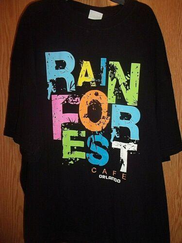 RAINFOREST CAFE ORLANDO FL black 2XL t shirt