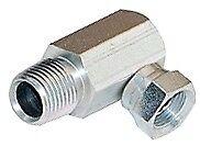 1501 08 08 Barstock Hydraulic Fitting 12male Pipe X 12female Pipe Swivel 90