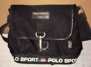 VTG Ralph Lauren Polo Sport Shoulder Bag Messenger Crossbody 90s ... b7b420449a730