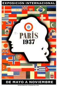 Paris-1937-World-Fair-France-German-Cuban-ad-POSTER-Stylish-Graphics-38i