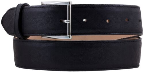 Mens Elephant Pattern Leather Cowboy Belt Western Removable Buckle Black
