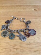 """Lucky Brand 7-1/2"""" PEACE Bracelet With Charms"""