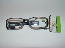 New DG Eyewear Fashion Reading Retro Style Glasses Unisex R2014DG +2.75 Smoke