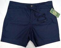 NWT $59 Lauren Jeans Co Navy Blue Petite Shorts Womens 8P 12P 14P Cotton NEW