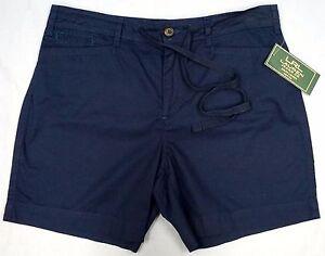 NWT-59-Lauren-Jeans-Co-Navy-Blue-Petite-Shorts-Womens-6P-8P-12P-14P-Cotton-NEW