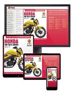Honda CBF125 (2009-2017) Haynes Online Manual