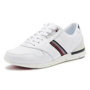 tommy hilfiger lightweight crystal womens white leather