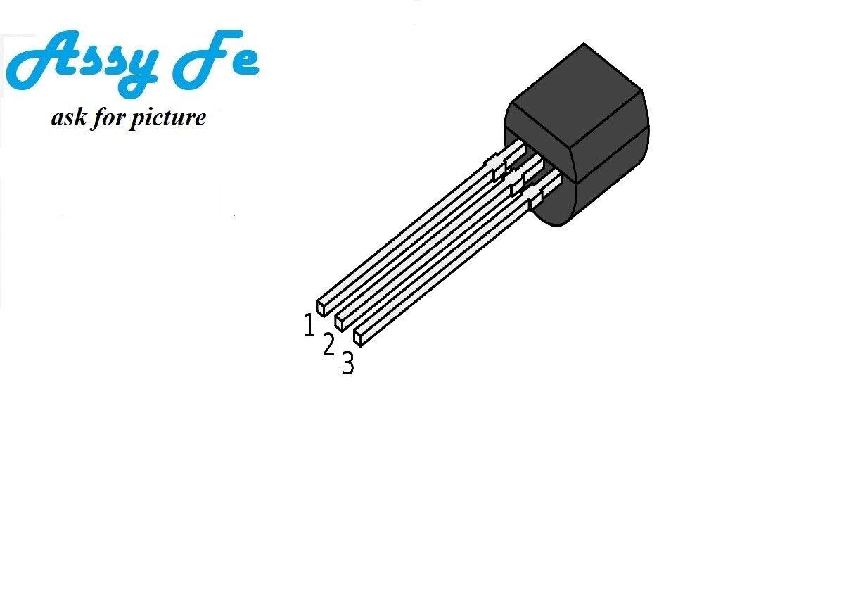 3 x MPSA06 MPSA 06 Transistor SI-N 80V 0.5A 0.625W DRIV 3 pezzi