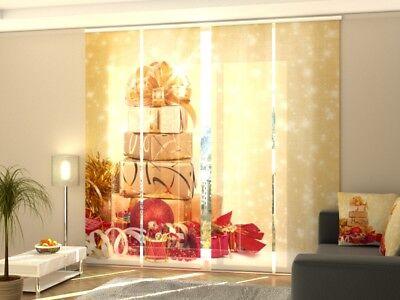 """Fotogardine """"weihnachten"""" Schiebegardine Schiebe Vorhang Gardine Nach Maß Strengthening Sinews And Bones Home & Garden Window Treatments & Hardware"""