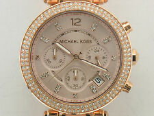 BRAND NEW MICHAEL KORS MK5896 ROSE TONE WOMENS DATE WRISTWATCH IN BOX WITH TAG