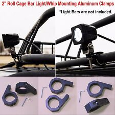 """2"""" Roll Cage Bar Light Whip Mounting Aluminum Clamps, 2 Inch Mounting Brackets"""