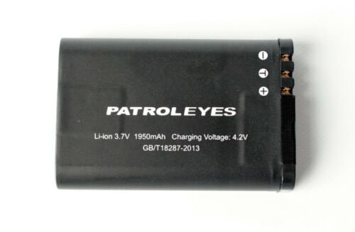 PatrolEyes GPS SC-DV5 DV5-2 Police Camera Removable Rechargeable Lithium Battery