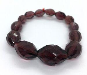 Vintage-Bracelet-Stretch-Bead-Glass-Dyed