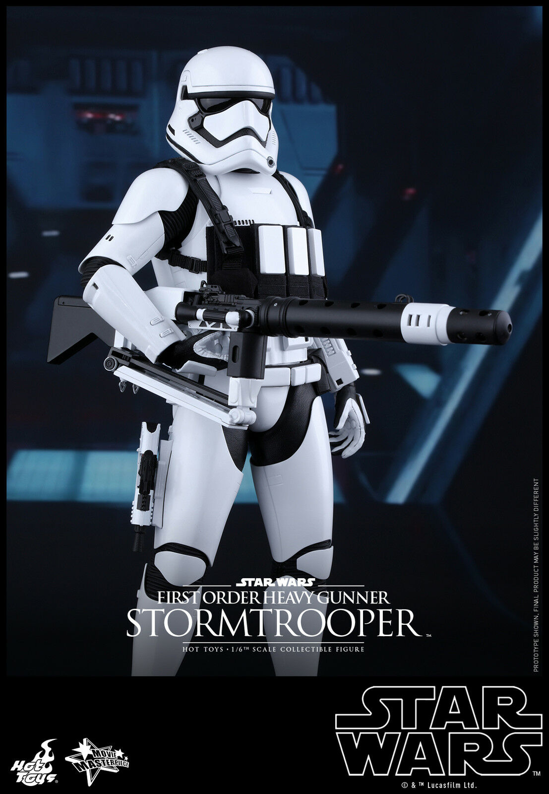 Star Wars The Force Awakens  First First First Order Heavy Gunner Stormtrooper 1 6 HOT TOYS  la mejor selección de