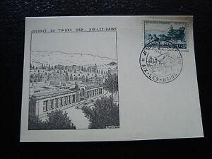 FRANCE-carte-8-3-1952-journee-du-timbre-aix-les-bains-cy10