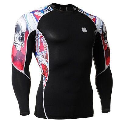 FIXGEAR C2L-B19R Compression Base Layer Shirt Sportswear for MMA Workout Gym