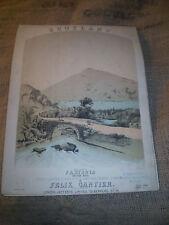 EDWARDIAN  SHEET MUSIC,DATED APRIL 29TH 1903,FANTASIA ON AIRS,FELIX GANTIER