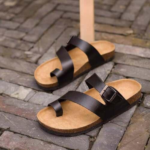 Women/'s Modern Stylish Slippers Open Toes Summer Flat Heel Strap Buckles Sandals