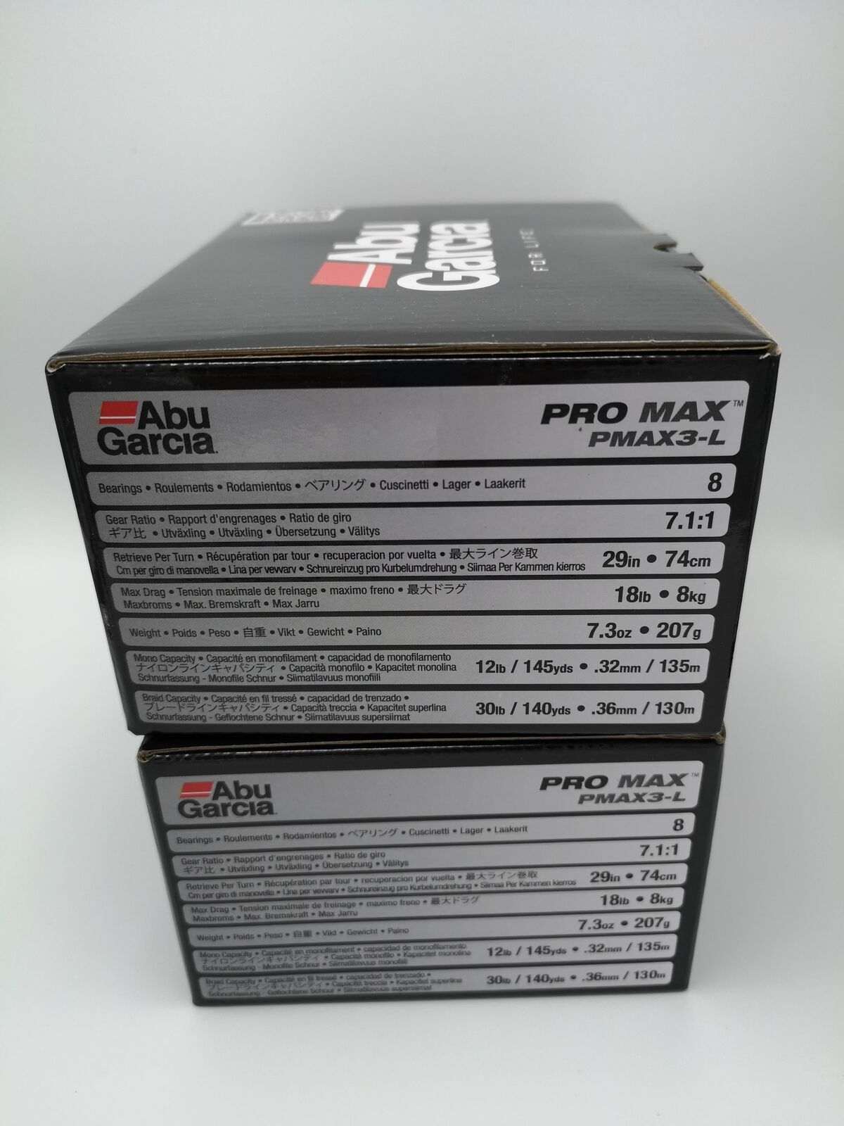 Lot of 2 Abu Garcia PMAX3L LeftHanded Pro max Low Profile Baitcasting Reel