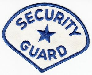 Security Guard Shoulder Patch On White Ebay