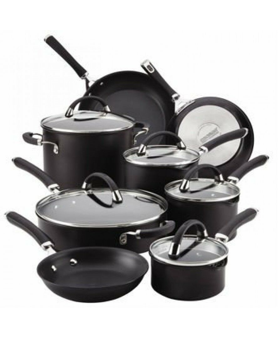 circulon 13pc non stick induction stainless steel saucepan pots pan cookware set. Black Bedroom Furniture Sets. Home Design Ideas