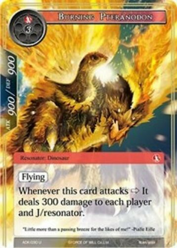 Full Art -ADK-030 Uncommon-NM FOIL Burning Pteranodon FoW