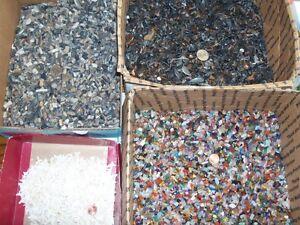 300 shark teeth (100 fossil, 100 stingray,100 white modern teeth) 500 gemstones