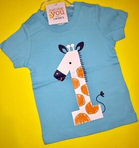 Image Is Loading NEW 1st Birthday GIRAFFE Baby Boys Shirt 12