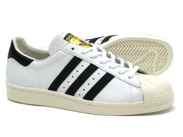 buy popular 7d8a3 c914e Hombre Adidas Originals Superstar 80s deportivas blanco 44 2 3   eBay