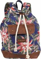 Eurosport Floral Backpack Canvas Bag B714 Rucksack Travel Sport Camping School