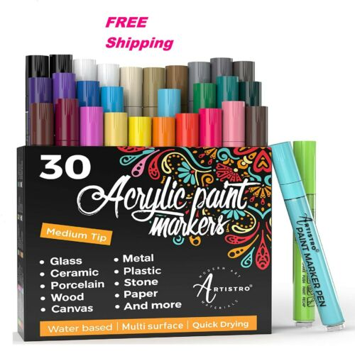 Porcelain Artistro Paint Pens for Rock Painting Wood Fabric, Glass Ceramic