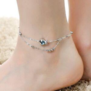 18K-White-Gold-Filled-Made-With-SWAROVSKI-Crystal-Bead-Clownfish-Anklet-Bracelet