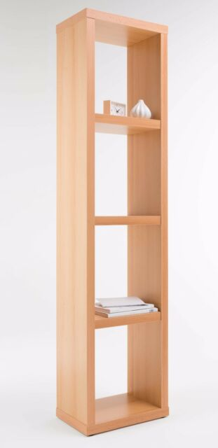 Alphason 4 Tier Wooden Home/Office Bookcase Storage Display Shelving Unit Beech