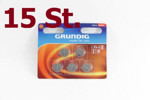 NEU 15 x CR 2032 NEU Knopfzellen GRUNDIG 20 32 LITHIUM BATTERIE Batterien 3 Volt