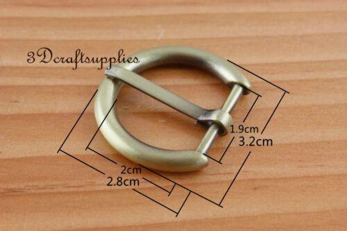 belt buckle hardware pin buckle 3//4 inch 19 mm anti bronze 8 pcs U189