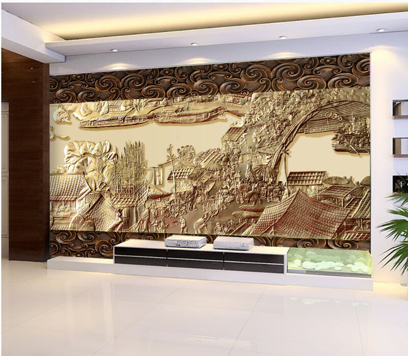 3D Ancient Painting 1957 Paper Wall Print Wall Decal Wall Deco Indoor Murals